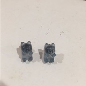 Blue gummy bear earrings from Claire's🐻💙
